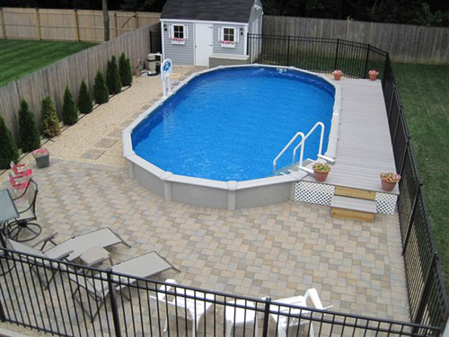 Above ground pools pool construction spa repair and for Pool design hamilton
